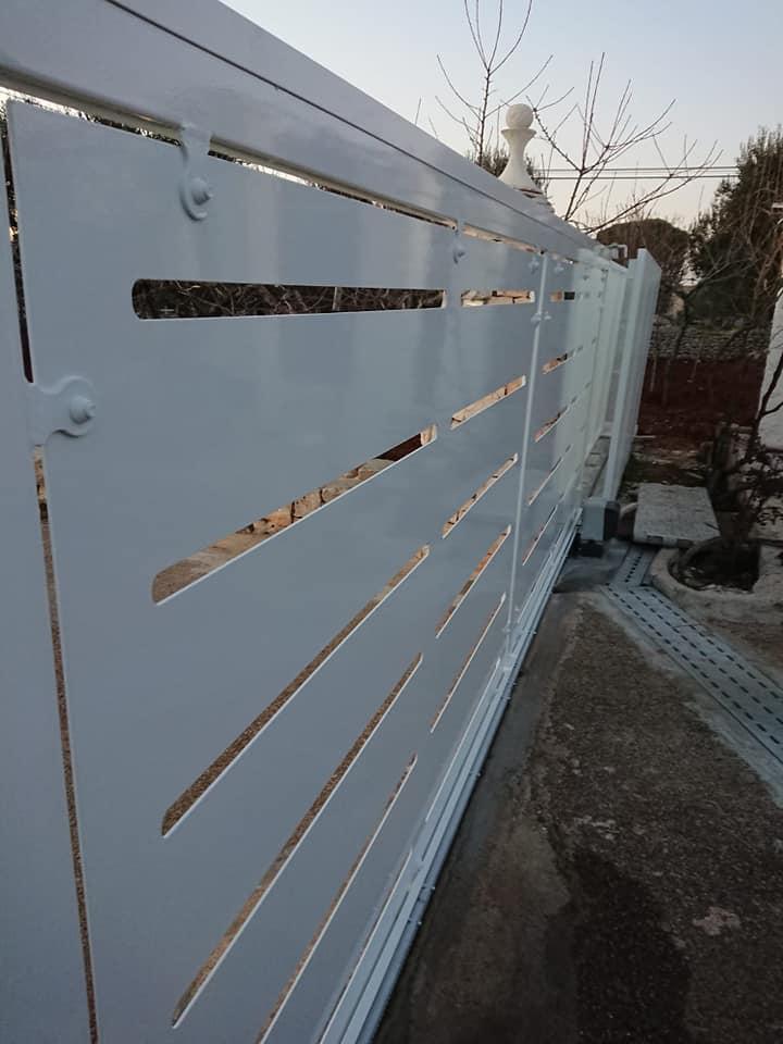 Carpenteria gabbia inserimento cancello scorrevole